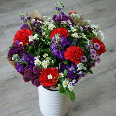 Création d'un bouquet surprise