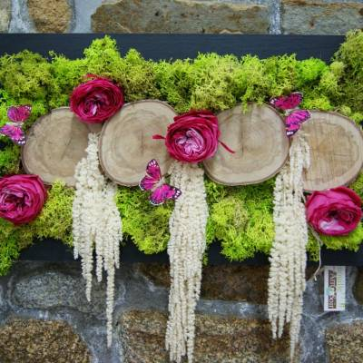 Tableau roses et amaranthes (stabilisé)